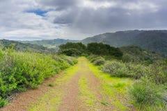Hiking trail in Rancho Canada del Oro Open Space Preserve, California stock photos