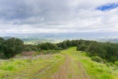 Hiking trail in Rancho Canada del Oro Open Space Preserve, California stock image