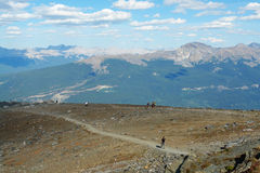Hiking trail in rocky mountains Royalty Free Stock Photo