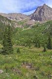 Hiking Trail into the Rocky Mountains, USA Stock Photos