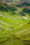 Hiking trail in the Romanian mountains Stock Images