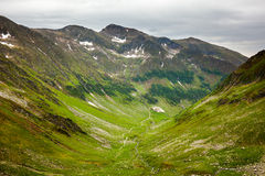 Hiking trail in the Romanian mountains Stock Photo