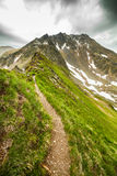Hiking trail in the Romanian mountains Royalty Free Stock Image