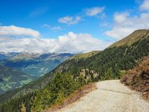 Hiking Trail in the Sarntal Alps, Alto Adige. Hiking Trail in the Sarntal Alps, South Tyrol, Italy royalty free stock images