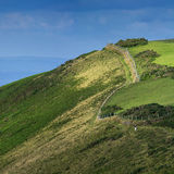 A hiking trail by the sea on the north Devon Royalty Free Stock Images