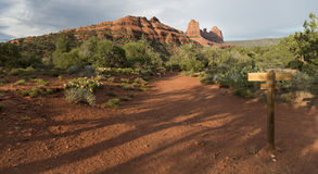 Hiking Trail Sedona Stock Photography