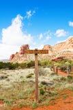 Hiking Trail in Sedona, Arizona Royalty Free Stock Photography