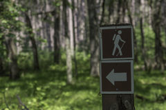 Hiking Trail Sign Arrow Stock Images
