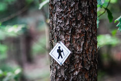 Hiking trail sign Stock Photography