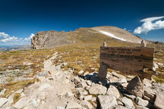 Hiking Trail Sign on the Great Divide Stock Images