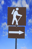 Hiking trail sign Royalty Free Stock Image