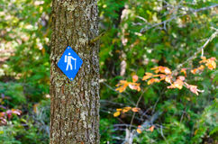 Hiking Trail Sign Stock Photo