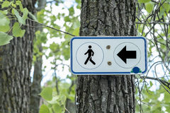 Hiking trail sign Royalty Free Stock Photography