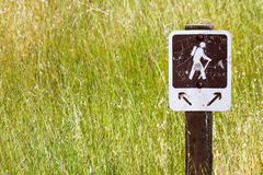 Hiking Trail Sign Stock Photos
