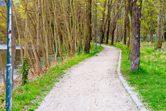 Hiking trail in a small park next to a river Stock Photography