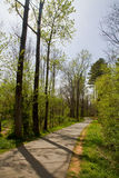 Hiking trail in Spring Royalty Free Stock Photography