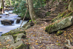 Hiking Trail and Stone Steps Royalty Free Stock Photography