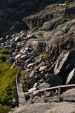 Hiking trail in sweden 3. An old hiking trail on a swedish island on the west coast royalty free stock photos