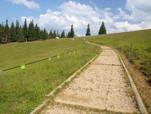 Hiking trail in the Tatra Mountains in Poland Stock Photography