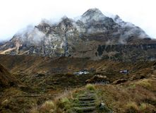 Hiking trail to  annapurna Royalty Free Stock Image