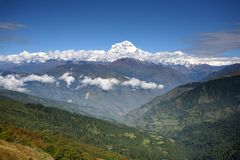 Hiking trail to  annapurna Stock Photography