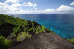 Hiking trail to Anse Major, Seychelles Royalty Free Stock Image