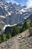 Hiking trail to the cirque of Gavarnie Royalty Free Stock Photography