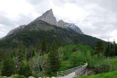 Hiking trail to mountain royalty free stock photos