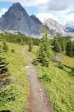 Hiking trail to mountains Royalty Free Stock Image