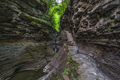 Hiking trail in Watkins Glen Gorge Royalty Free Stock Images