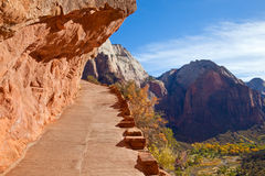 Hiking Trail in Zion Royalty Free Stock Photography
