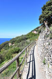 Hiking trails in Cinque Terre, Italy Stock Image