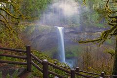 Hiking Trails at Silver Falls State Park Oregon USA Stock Photo