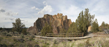 Hiking Trails at Smith Rock State Park. In Terrebonne Oregon Panorama Stock Photo