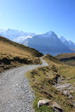 Hiking trails to Jungfrau Swiss Alps Royalty Free Stock Images