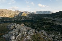 Hiking Trail in the High Tatra Royalty Free Stock Image