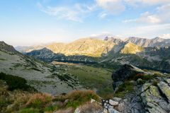 Hiking Trail in the High Tatra Stock Photos