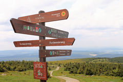 Hiking, trampen,  trails, signs Stock Photo