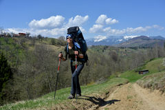 Hiking in Transylvania Stock Images
