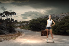 Hiking traveling Royalty Free Stock Photos