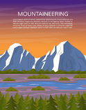 Hiking or travelling mountain background. Royalty Free Stock Image