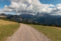 Hiking trek in Dolomites Royalty Free Stock Photo