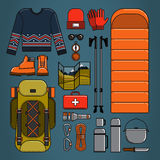Hiking and trekking vector illustration Stock Photography