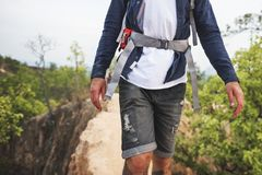 Hiking Trekking Walking Travel Destination Concept Stock Photography