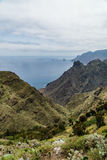 Hiking trip in the Anaga Mountains near Taborno on Tenerife Island Royalty Free Stock Images