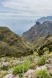 Hiking trip in the Anaga Mountains near Taborno on Tenerife Island Stock Photo