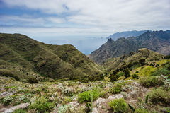 Hiking trip in the Anaga Mountains near Taborno on Tenerife Island Stock Images