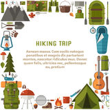 Hiking Trip Background Royalty Free Stock Images