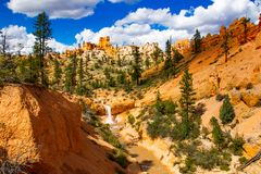 Hiking trip in Bryce Canyon royalty free stock photos