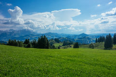 Hiking trip in Gais, a town in the swiss alps Royalty Free Stock Image